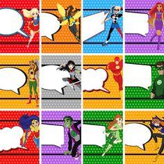 Free Printable or Edit in Canva Superhero Tags Wonder Woman Birthday, Wonder Woman Party, Birthday Fun, Birthday Party Themes, Birthday Ideas, Supergirl, Batgirl, Anniversaire Wonder Woman, Girl Superhero Party