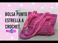 BOLSA PUNTO ESTRELLA A CROCHET. - YouTube