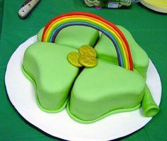 Shamrock Cake for St. Patrick's Day