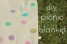 radical possibility: Waterproof Confetti Polka Dot Picnic Blanket