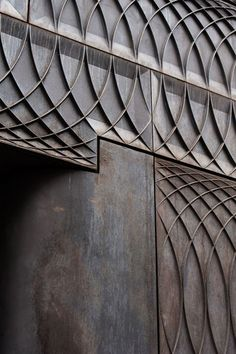 Detail of the cast iron used on the shop facade by 6a Architects for Paul Smith, located on Albemarle Street, London.