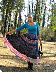 Torquoise Elephant Spring Harvest Dress by HarvestGirlLove on Etsy, $88.00
