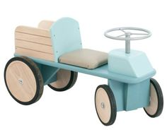 Moulin Roty Wagon and Tractor Offer a Smooth Retro Ride for Tots Moulin Roty Ride On Wagon Retro Wagon – Inhabitots