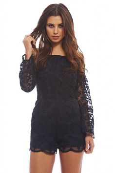 AX Paris Women's Off the shoulder Lace Romper >>> This is an Amazon Affiliate link. To view further for this item, visit the image link.