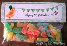 St. Patty's Treat Bag Toppers: Free Printable