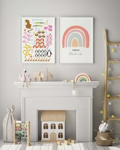The best and coolest art prints for the children's room. Discover some fun illustrations, colourful prints, ABC's, numbers, and more. Bedroom For Girls Kids, Childrens Bedroom Decor, Nursery Decor, Kids Room, Fun Illustration, Playroom, Cool Art, Art Prints, Live Long