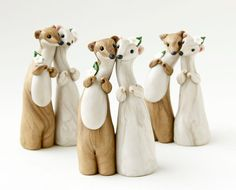 Weasel Wedding Cake Toppers