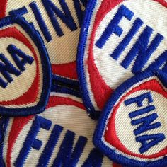 Vintage Oil Company Memorabilia. Patches from workers' uniforms. #Oil #FINA