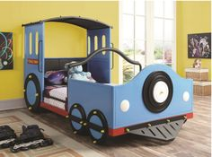 Train-loving kids would surely choo-choo-choose this bed.