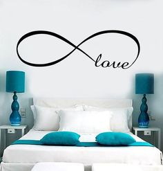 Decal  Wall Vinyl Love Infinity Woman Girl Room Romantic Bedroom Art Stickers (ig3638)