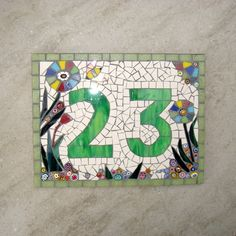 Custom Mosaic House Number Ornament £80.00