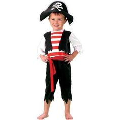 Pint Size Pirate Costume Boy - Toddler 1-2T