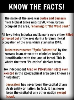 """And now you know where the terms """"West Bank"""" and """"Palestine"""" come from. And you…"""