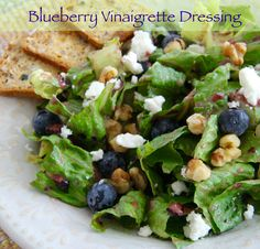 Blueberry season's here, so treat your family to a delicious salad with fresh Blueberry Vinaigrette Dressing.  #QuickAndEasy #MyAllrecipes  #AllrecipesAllstars  #AllrecipesFaceless