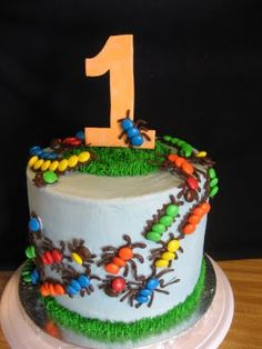 Sweetest Endeavors: 1st Birthday Bug Cake - This would be great for any little boys birthday, not just 1st BD.