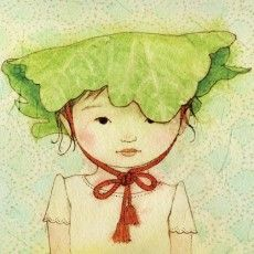 """[Felicia Hoshino]     You might recognize this illustrator from the book, """"A Place Where Sunflowers Grow."""" If not, that's okay! Her artwork is lovely and worth a look, so check out the 'portraits' section in your spare time. You might just find something you like!"""