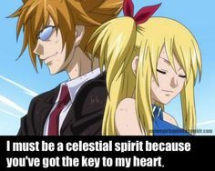 fairy tail loke and lucy - Google Search.  Graylu is my favorite but I really like this pairing too.