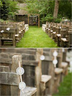 rustic wedding venues - ceremony decor