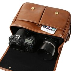 Amazon.com : Koolertron Waterproof Vintage fashionable PU Leather DSLR Camera Bag Shoulder Messenger Bag Fit DSLR with 2 lenses For Canon Sony Nikon Canon Olympus And So On (Antique Brown) : Camera & Photo