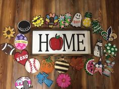 Interchangeable Attachments for Home Signs or Porch Signs /interchangeable/ attachments /Home Signs / Welcome Signs Everything is hand painted so nothing is the same as pictured Bead Crafts, Diy And Crafts, Arts And Crafts, Porch Signs, Home Signs, Christmas Truck, Christmas Time, Craft Projects, Projects To Try
