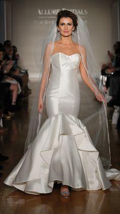 allure bridal maddison james f2017 strapless sweetheart neckline stain bodice simple clean classic elegant mermaid wedding dress medium train (002) mv