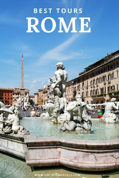Rome Italy - read our guide to discover the best tours and things to do in Rome. The best way to visit the Coliseum, Vatican, Trevi Fountain and Piazza Navona is with a tour guide. Tips on what to do in Rome and day trips from Rome Travel Tips For Europe, Italy Travel Tips, Places To Travel, Travel Destinations, Places To Visit, Eurotrip, Rome Italy Tours, Disneyland, Day Trips From Rome