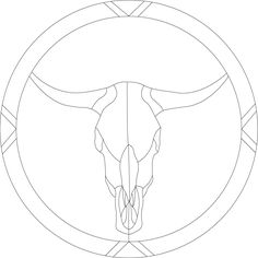 steer skull template | stained glass steer skull pattern pnl 003 about this item this is one ...
