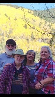 Mom and dad with Wanda and Jerry in the Aspens.