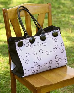 Classic Horse Bit Button Tote - The Painting Pony - GREAT bag for the equestrian! really love this purse!