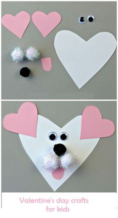Valentine's Day DIY Craft Ideas for Kids! Excellent collection of Valentine's Day Craft Ideas you can engage your toddlers with. These craft Ideas are easy and do not require you to be a genius Preschool Valentine Crafts, Kinder Valentines, Valentines Day Activities, Valentines For Kids, Valentine Ideas, Printable Valentine, Valentine Nails, Valentine Box, Valentine Wreath