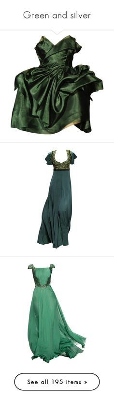 """""""Green and silver"""" by violetrose74 ❤ liked on Polyvore featuring dresses, gowns, dolls, short dresses, babydoll dresses, doll dress, green color dress, short green dress, green dress and gowns green"""
