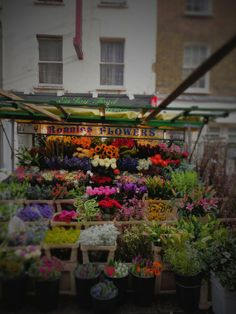 Ronnie's Flowers on Berwick Market in Soho