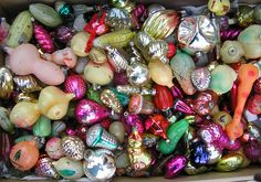 VINTAGE CHRISTMAS ORNAMENTS by Zellaby, via Flickr