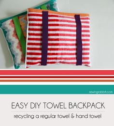 Tutorial: Fold-up towel backpack