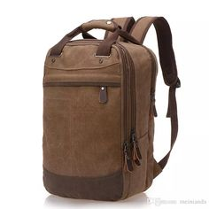 9e3e5da7917 Mochila de viento de colegio Tendencia de bolsa de lona casual Bolsa de  hombre Mochila para computadora Ocio para estudiantes Bolsas de hombro