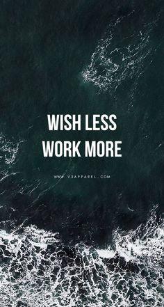 // Wish less