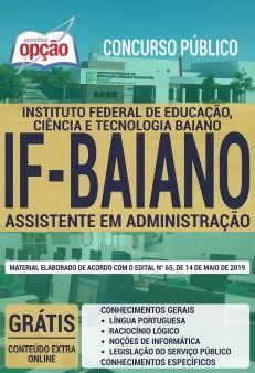 Apostila Concurso If Baiano 2019 Assistente Em Administracao