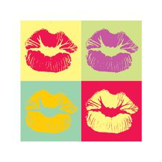 Pop Art Kiss Vector Graphic ($7.99) ❤ liked on Polyvore