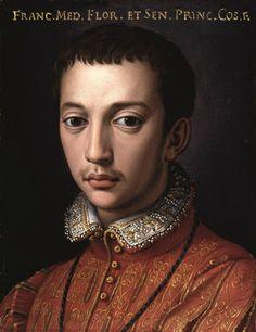 Bronzino (Agnolo di Cosimo, dit) et atelier, 1555-1565, François de Médicis, 1555-1565, Huile sur étain. © S.S.P.S.A.E e per il Polo Museale della città di Firenze