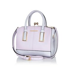 Lilac structured mini tote bag #riverisland