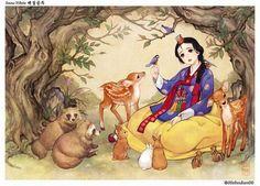 Белоснежка: иллюстрация корейской художницы Nayoung Wooh