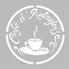 Pochoir Adhésif Home Déco 15 x 15 cm PUB CAFE VINTAGE