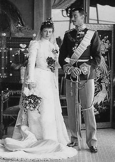 The wedding of King Christian X and Queen Alexandrine of Denmark 26th April 1898