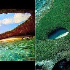 mexico, hidden beach