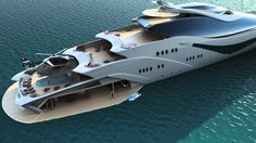Who doesn't love a gorgeous yacht you can't afford? Luxurious yacht PROJECT MAGNITUDE by Opalinski designs. We all need a yacht. Yacht Design, Boat Design, Jet Ski, Ski Boats, Cool Boats, Private Yacht, Private Jet, Luxury Helicopter, Big Yachts
