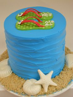 Flip Flop Beach cake