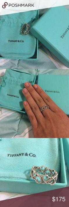 Tiffany & Co. heart ring with jewelry bag and box Tiffany & Co. heart ring Tiffany & Co. Jewelry Rings