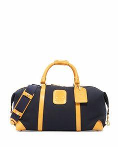 Cavalier II Men\'s Twill Duffel Bag, Navy by Ghurka at Neiman Marcus.