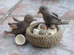 Crochet birds and their felt home | Flickr - Photo Sharing!