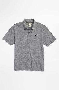 Volcom 'Bangout' Marled Polo (Big Boys) available at #Nordstrom